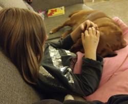 best friends cuddling