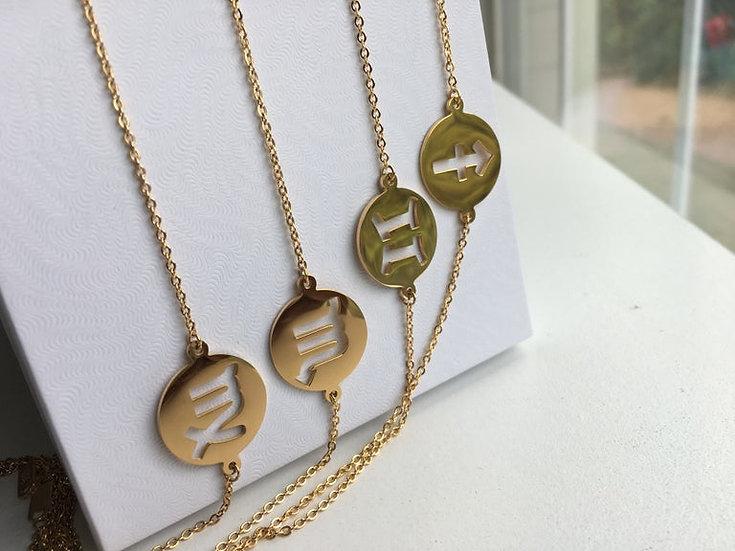 14K GOLD Zodiac Anklet