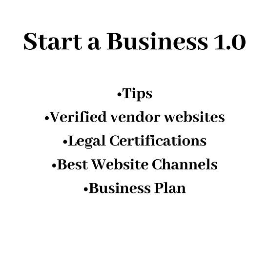 Start a Business 1.0