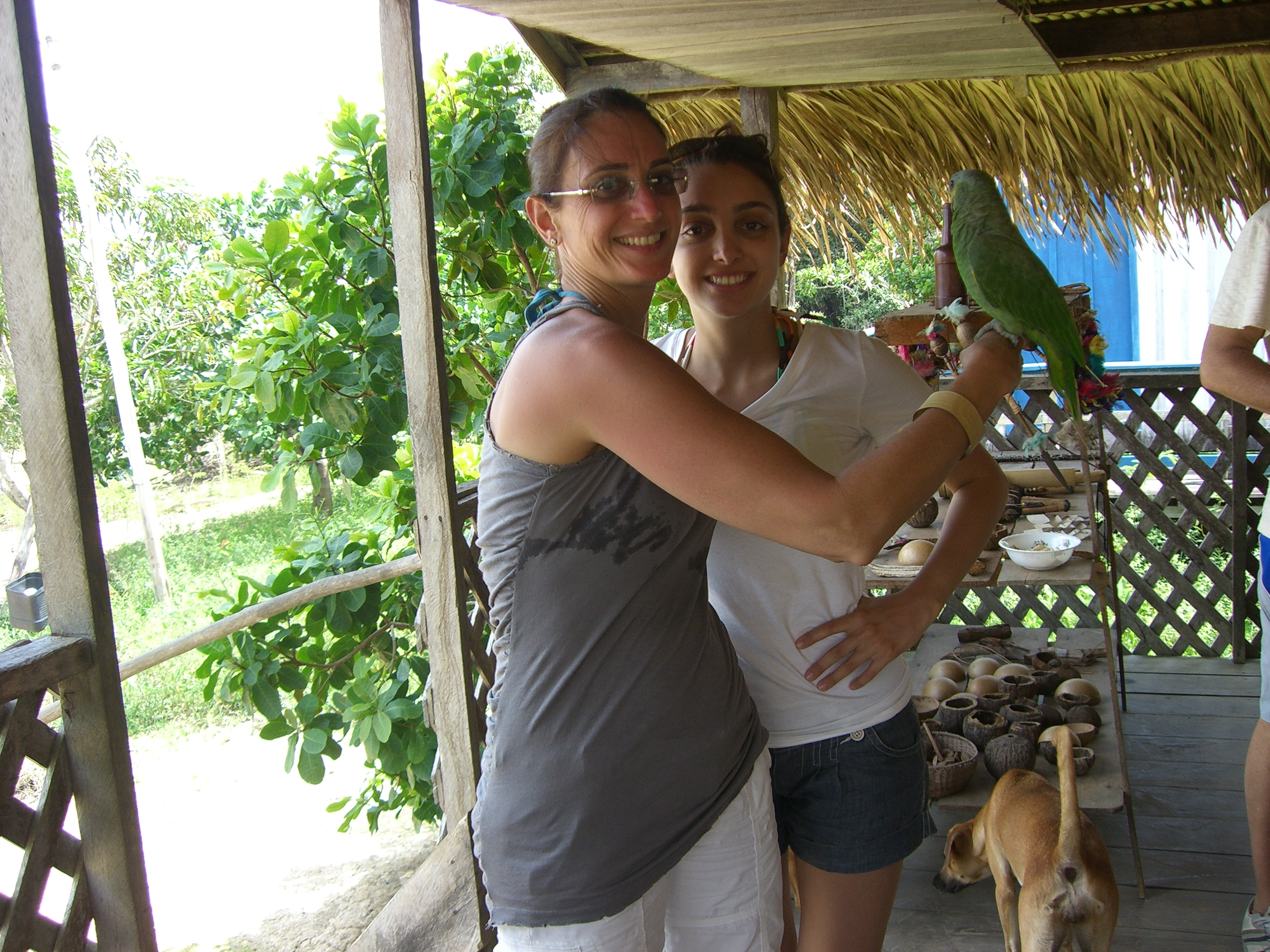 Sabrina and Karine-Visiting natives Amazon
