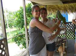 Sabrina and Karine-Visiting natives Amazon