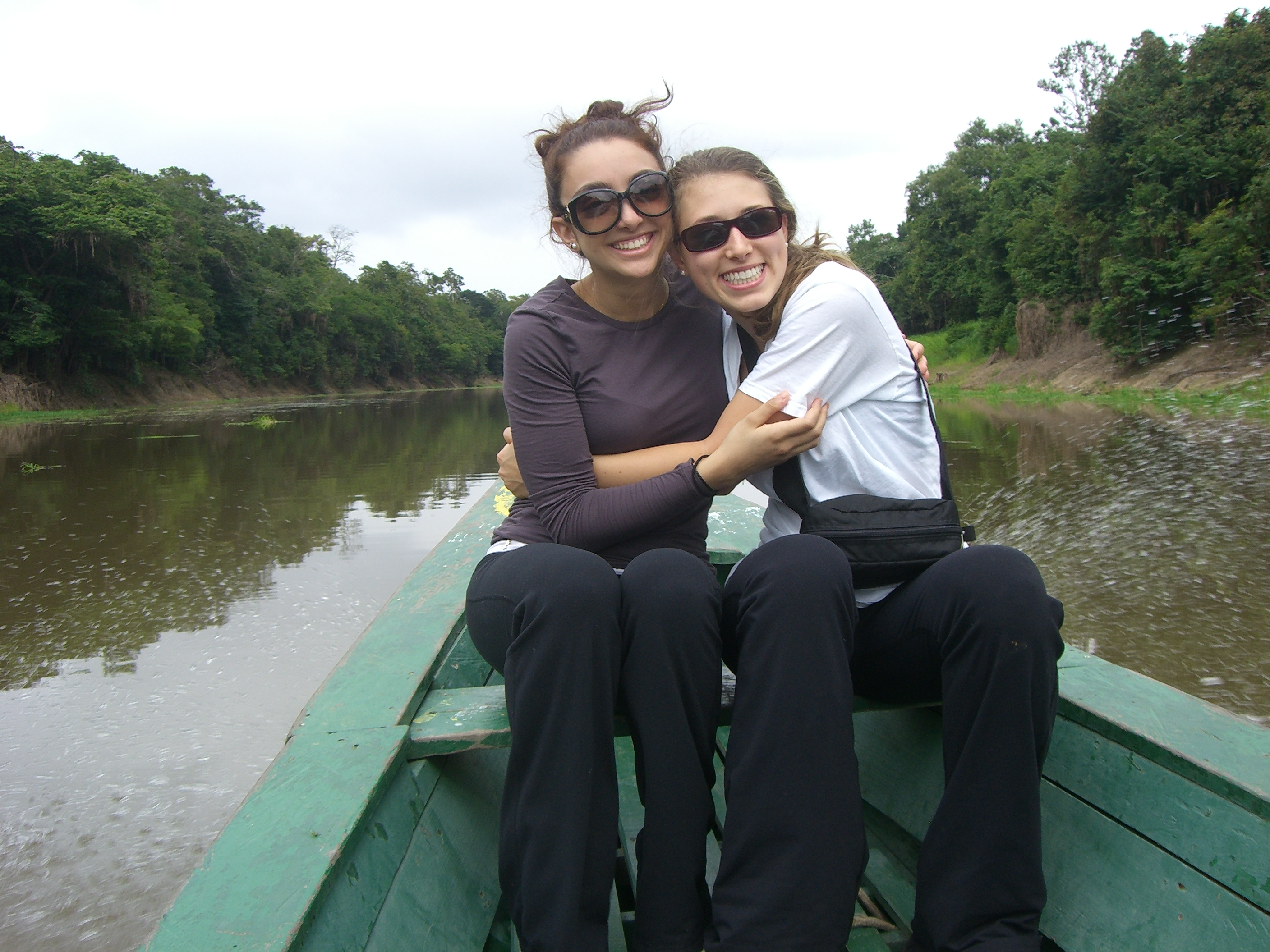 Karine and Erin on Rio Negro-Amazon