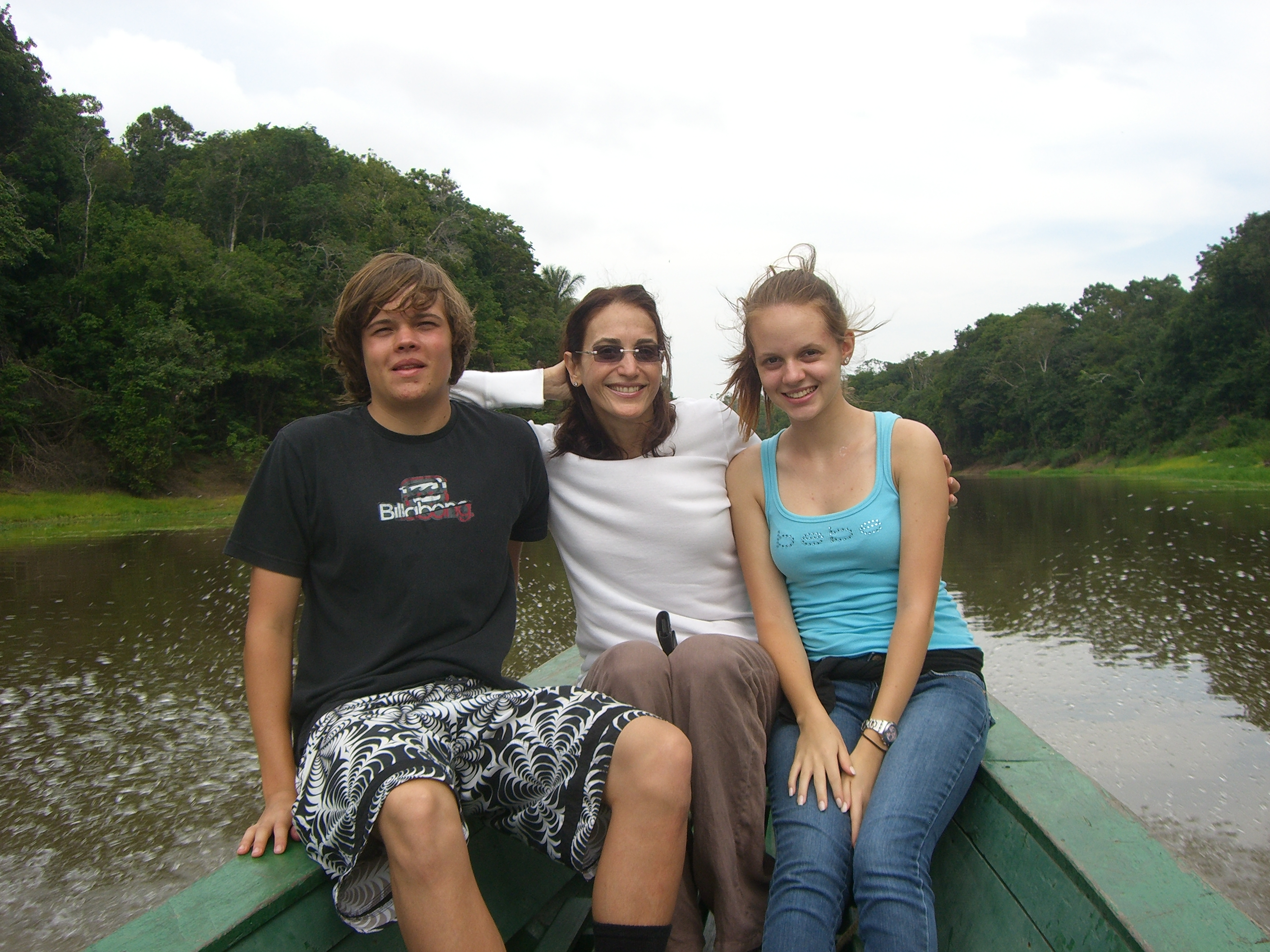 On Rio Negro with Phllip and Marina-Amazon