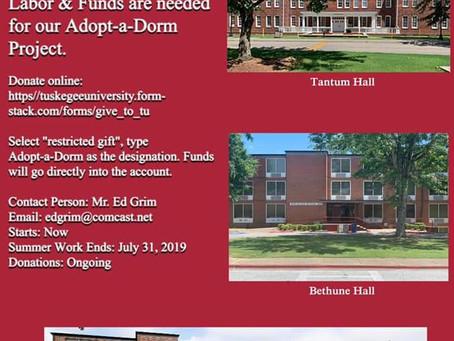 Ed Grim & Volunteers : Adopt-a-Dorm Updates