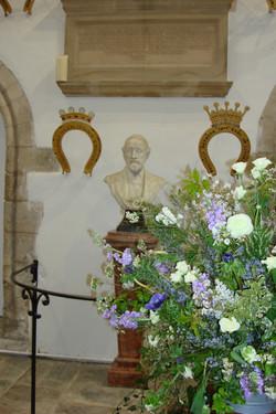 Floral arrangement in Gt Hall.