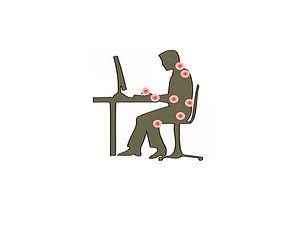 points de stress articulaires au bureau.