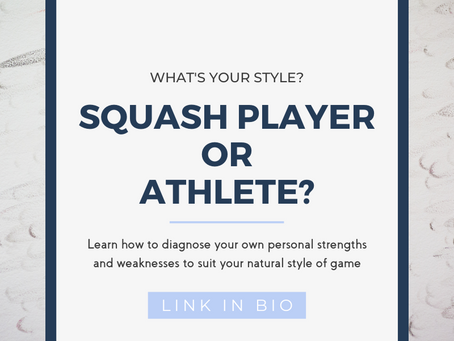 What's Your Squash Style - Squash Player or Athlete?