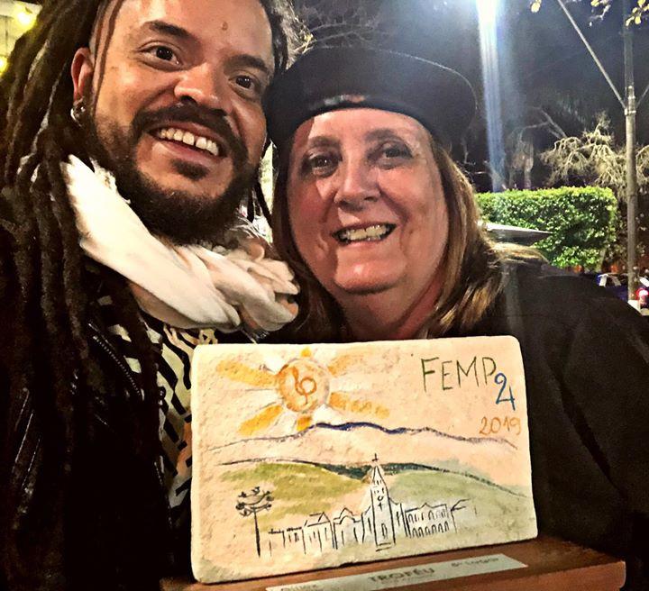 Com Valéria Pisauro