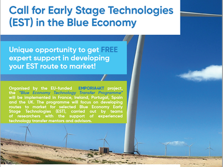 Call for Blue Economy Early Stage Technologies