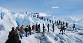 Animate a caminar sobre un Glaciar Milenario