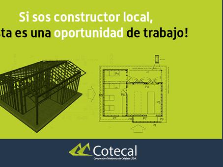 Cotecal convoca a constructores locales