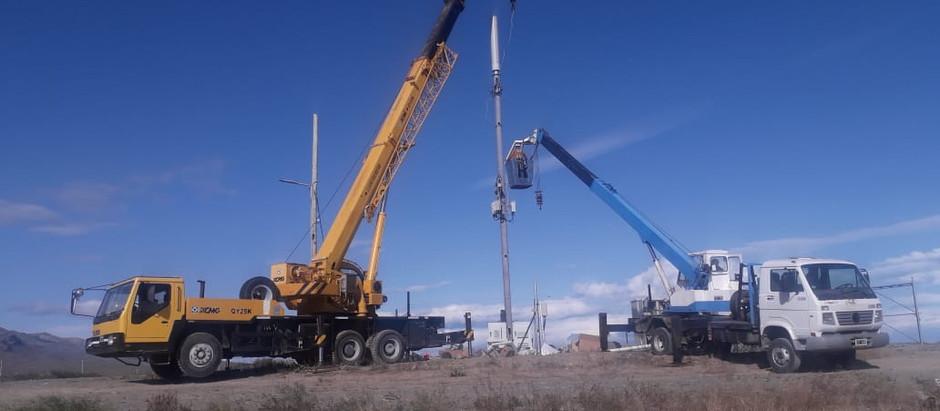 En nuevo sitio de Cotecal Movistar reinstaló antena para celulares