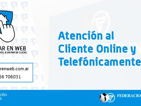 Atención al cliente por vía telefónica y Online