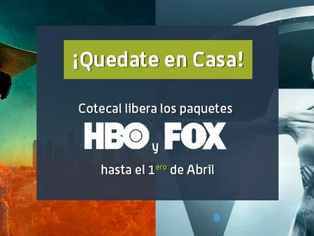 Cotecal libera los paquetes HBO y FOX a todos los abonados de CotecalTV.