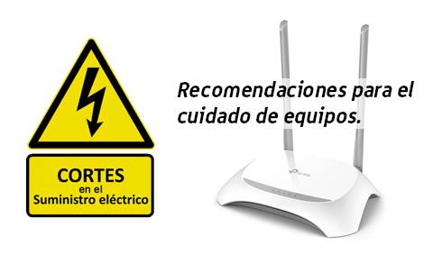 Cortes de energía: adoptar recaudos para proteger equipos de telefonía, internet y televisión.