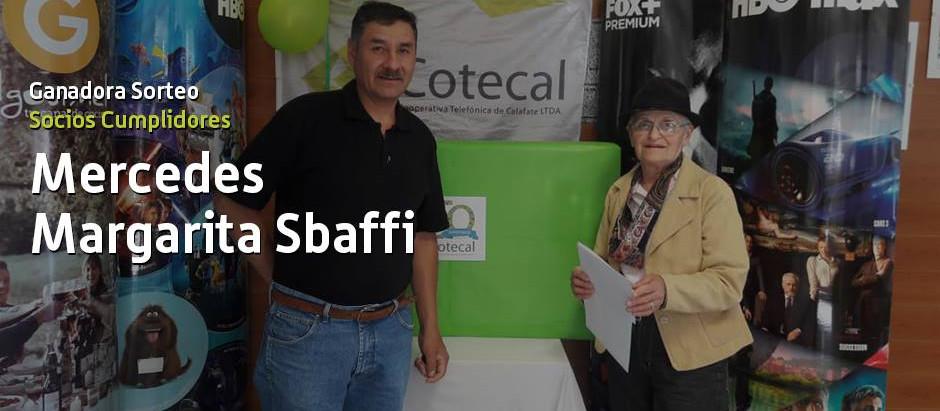 Felicitaciones Margarita Sbaffi, ganadora del primer sorteo de Socios Cumplidores!