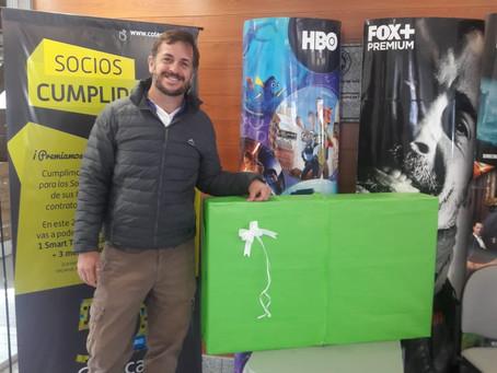 ¡Felicitaciones Sebastián Lescano! A disfrutar de tu SmartTV.