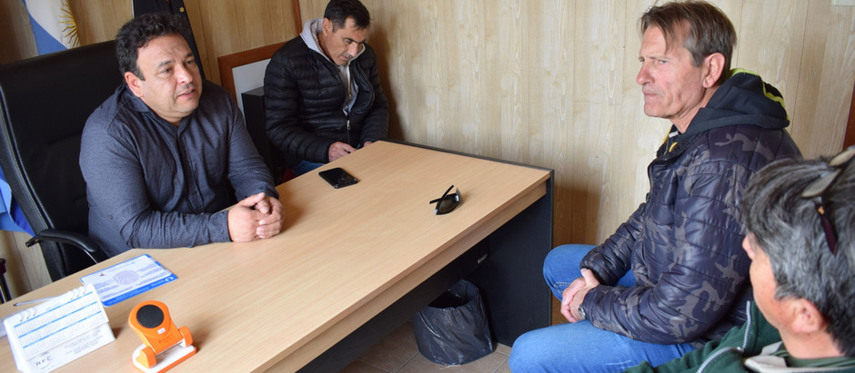 Reunión con el intendente de El Chaltén Néstor Tico
