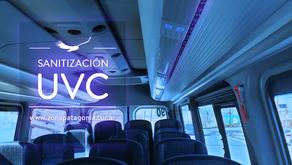 Nuestros vehículos equipados con sistemas de sanitización UV-C
