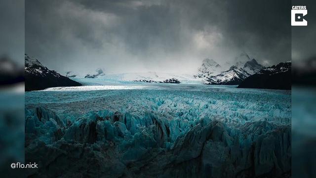 Hipnotizante time-lapse de una formación de nubes sobre el Glaciar Perito Moreno