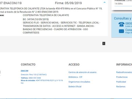 ENACOM adjudicó a COTECAL Frecuencia 450