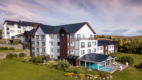 vista panorámica del hotel y el spa