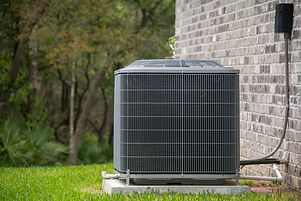 HVAC Air Conditioning Unit on concrete s