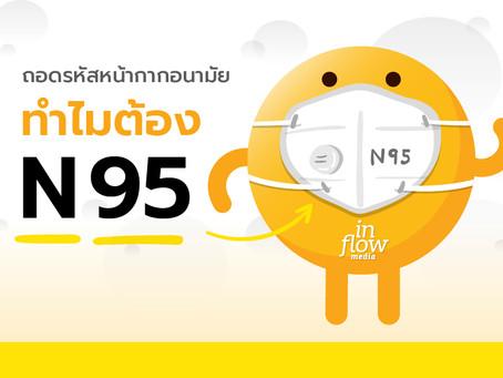 """หน้ากากอนามัย ทำไมต้อง """"N95"""""""