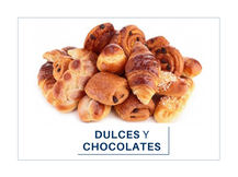 Dulces y chocolates.