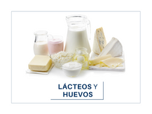 Productos lácteos y huevos.