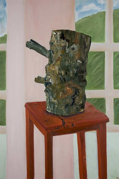 Still Life Painting - Tree on Wood