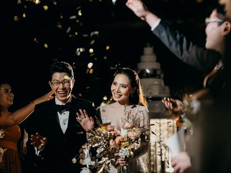 """"""" Oui + O """" wedding reception"""