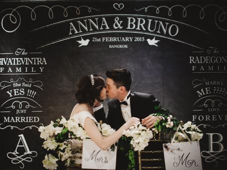 """Anna + Bruno"".. wedding reception @ Huachang Heritage Bangkok"