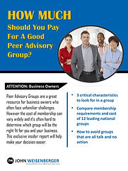 Selecting A Peer Advisory Group Report Cover