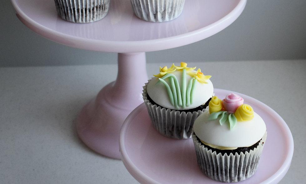 Postable Floral & Rainbow Cupcakes