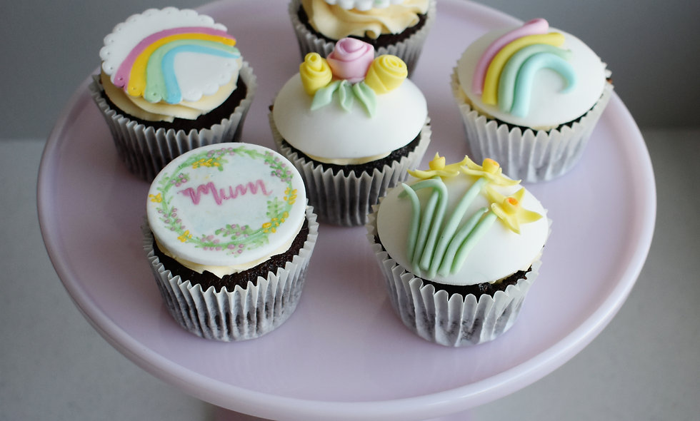 Floral / Rainbow Cupcakes