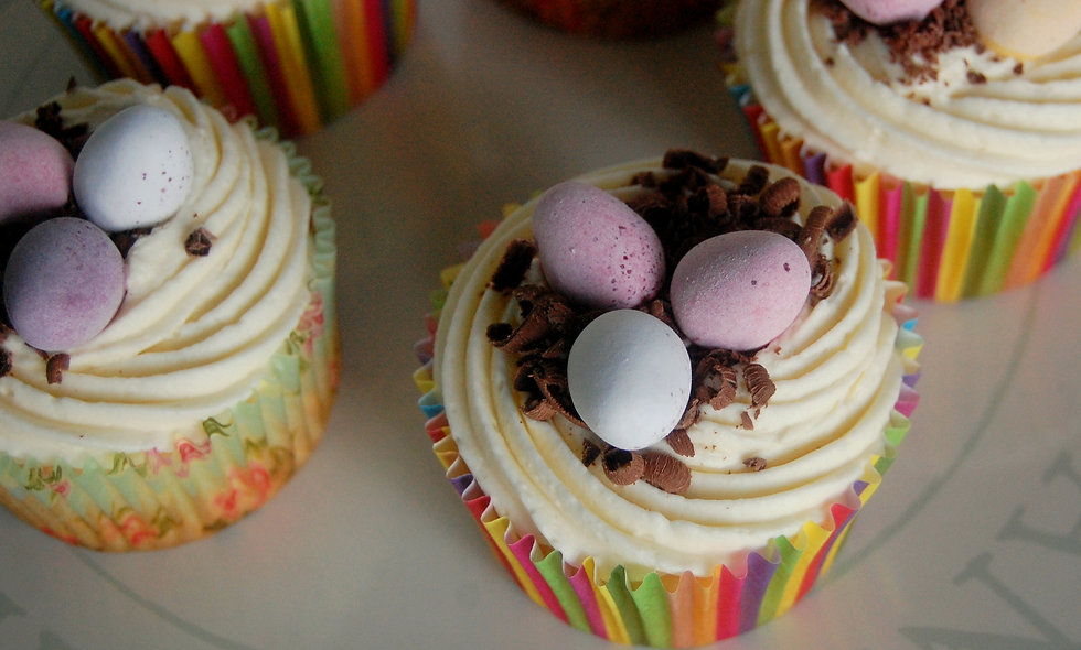 Mini-Egg Cupcakes Gift Box