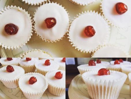 Bakewell Tart Cupcakes