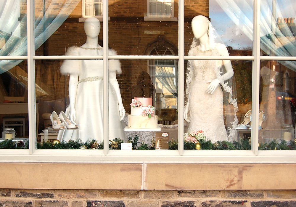 Louise Perry Bridal in Saltaire featuring my Wedding Cake