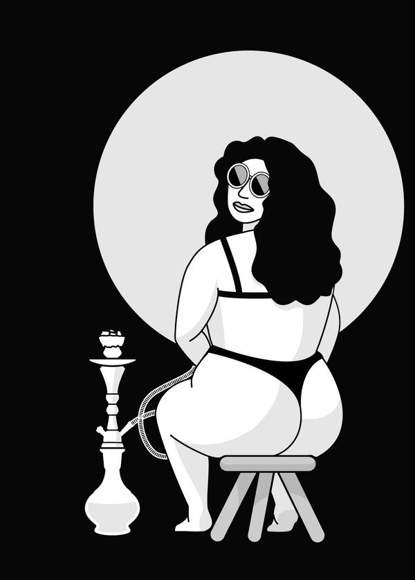Femme au narguilé
