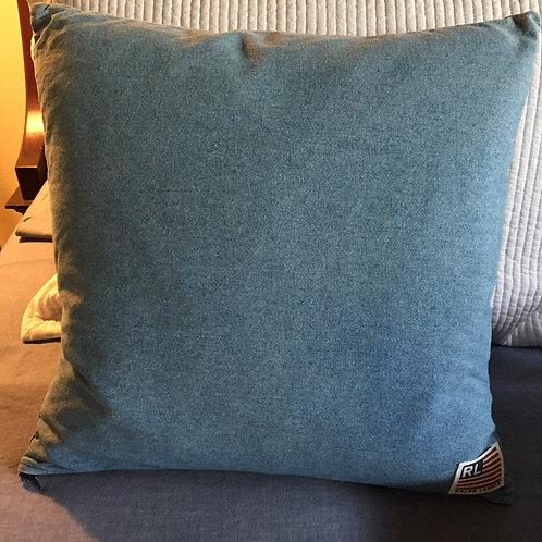 Ralph Lauren Vintage Denim Flag Pillow