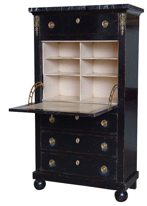 PARIS Empire Secretary Desk in Noir