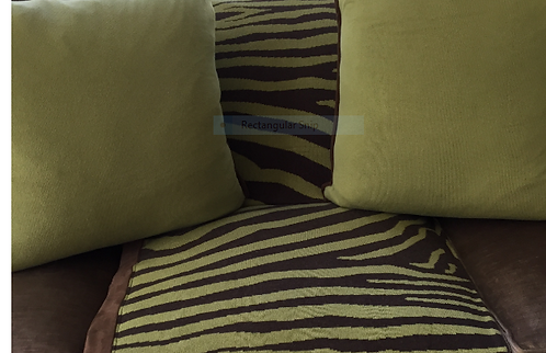 Chartreuse Zebra Throw and Pillows