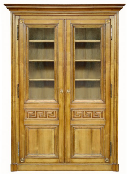 PARIS Greek Bookcase / Armoire in Waxed Cherry