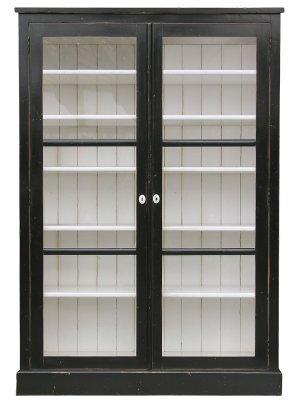 PARIS Louis XVI Armoire/Bookcase in Noir /Blanc