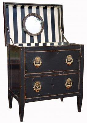 PARIS Directoire Dressing Table in Noir