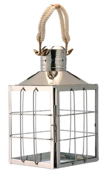 Large Nickel Coastal Lantern