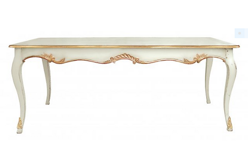 PARIS Table Regence in Blanc