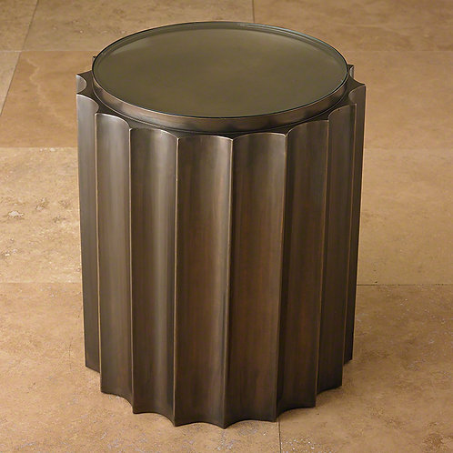 Fluted Column Side Table