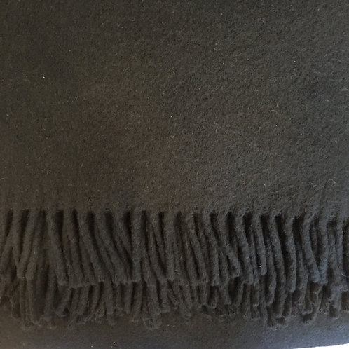 Italian Cashmere Throw Black